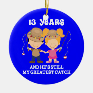 13th Wedding Anniversary Funny Gift For Her Ceramic Ornament