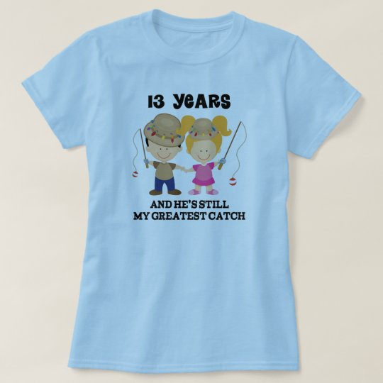 13th Wedding Anniversary Gift Ideas For Her: 13th Wedding Anniversary Gift For Her T-Shirt