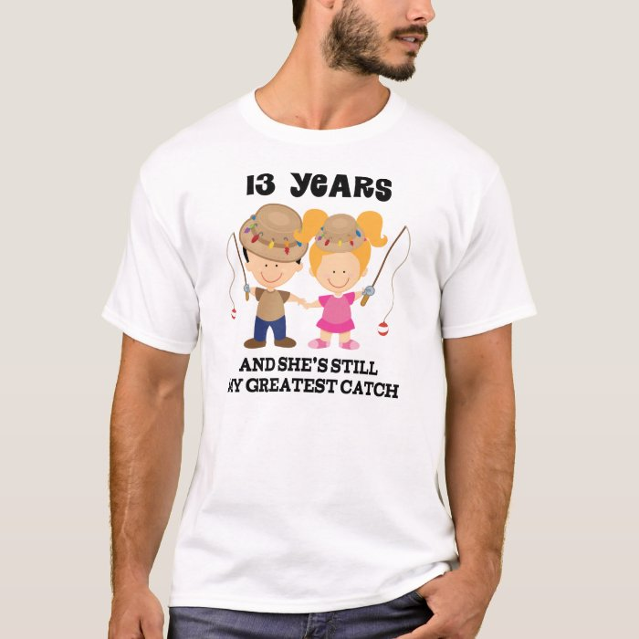 13th Wedding Anniversary Gift Ideas For Him: 13th Wedding Anniversary Gift For Him T-Shirt