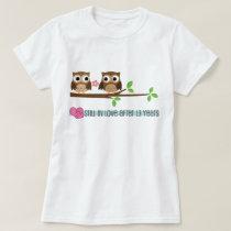 13th Wedding Anniversary Owls T-Shirt