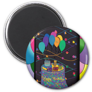 13thsurprisepartyyinvitationballoons copy 2 inch round magnet