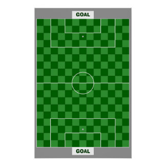 13x18 Soccer Goal Chess TAG Grid (Fridge Magnets) Print