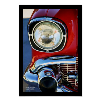 13x19-in Leather and Lace Classic Car Fine Art Poster