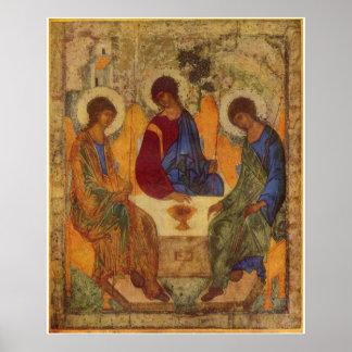 1400 Andrej Rublëv Religious Vintage Art Poster
