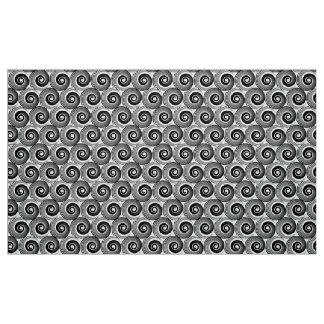 140216 Spirals - Black on White Fabric