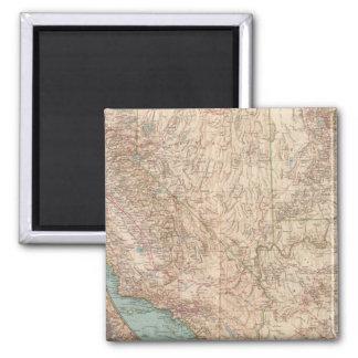14041 Calif, Nev, Utah, Ariz 2 Inch Square Magnet