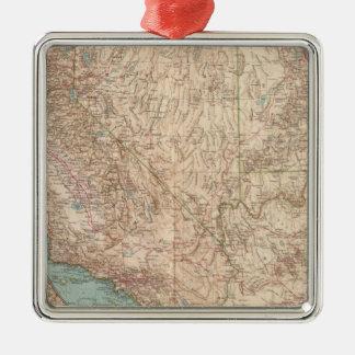 14041 Calif, Nev, Utah, Ariz Metal Ornament