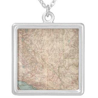 14041 Calif, Nev, Utah, Ariz Square Pendant Necklace
