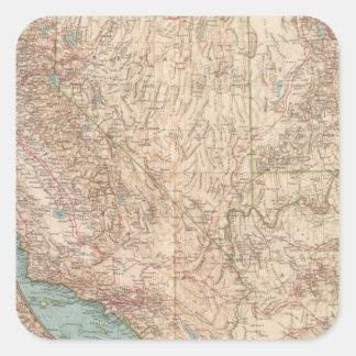 14041 Calif, Nev, Utah, Ariz Square Sticker