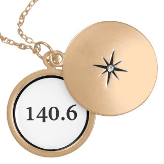 140.6 circle gold plated necklace