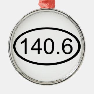 140,6 ADORNO REDONDO PLATEADO