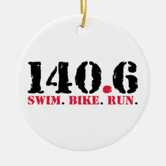140,6 Funcionamiento de la bici de la nadada Adorno Navideño Redondo De Cerámica