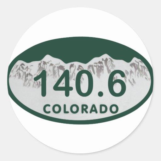 140.6 license oval classic round sticker