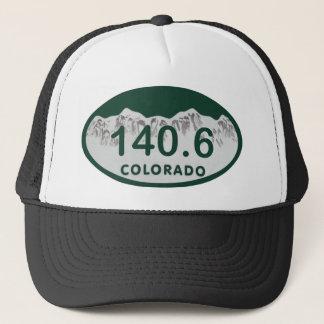 140.6 license oval trucker hat