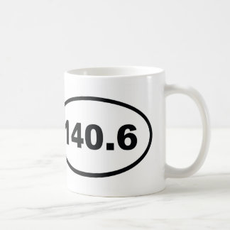 140.6 miles triathlon coffee mug