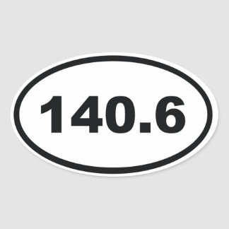 140.6 miles Triathlon Oval Stickers