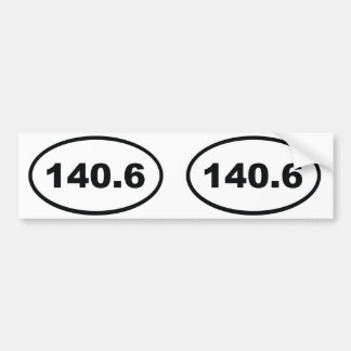 140,6 millas de Triathlon Etiqueta De Parachoque