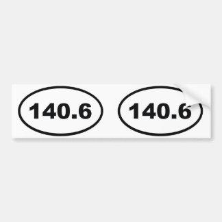 140,6 millas de Triathlon Pegatina Para Auto