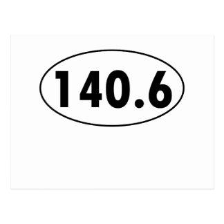140 6 Óvalo de Triathalon Tarjetas Postales