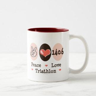 140.6 Peace Love Triathlon Mug