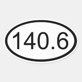 140,6 PEGATINA OVALADA
