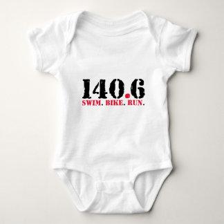 140.6 Swim Bike Run Baby Bodysuit