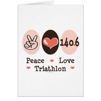 140 6 Tarjeta de felicitación del Triathlon del am
