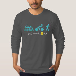 140.6 with Aloha Men's Fine Jersey LS - Dark+Bk T-Shirt