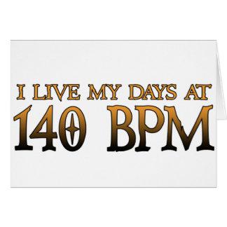 140 BPM Days DUBSTEP Card