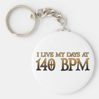 140 BPM Days DUBSTEP Keychain