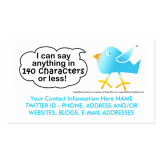 140 Characters Business or Calling Cards Business Card Template
