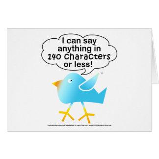 140 CHARACTERS Notecard Greeting Card