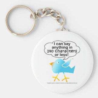 140 Characters Tweet Keychain