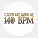140 días DUBSTEP de BPM Pegatina Redonda