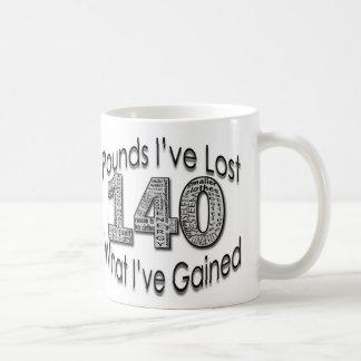140 libras de taza perdida