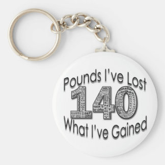 140 Pounds Lost Keychain