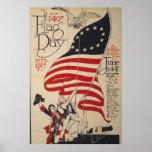 140o Día de la bandera Poster