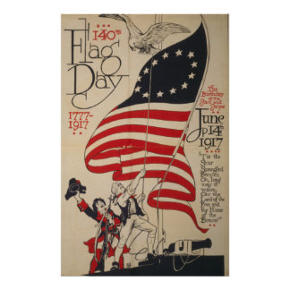 140th Flag Day 1777-1917 Poster