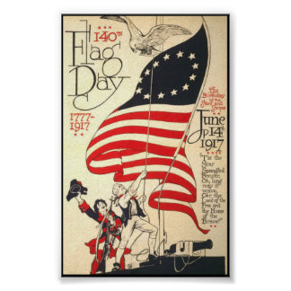 140th Flag Day 1917 poster