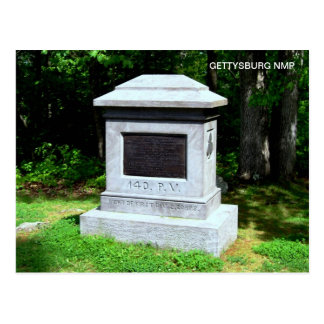 140TH P.V. MONUMENT POSTCARD