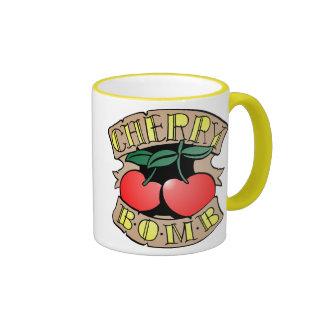 1413032011 Cherry Bomb Inverso (Rocker & Kustom) Ringer Coffee Mug