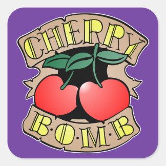 1413032011 Cherry Bomb Inverso (Rocker & Kustom) Square Sticker