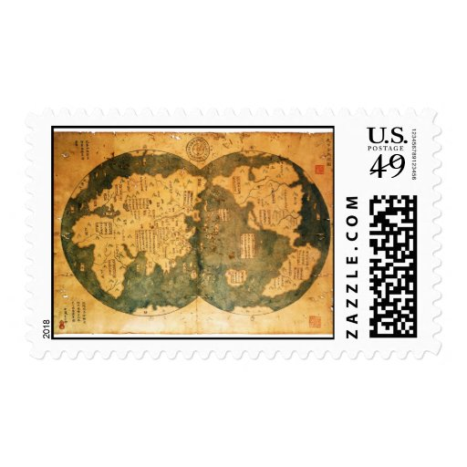 1418 Chinese World Map by Gavin Menzies Postage Stamps
