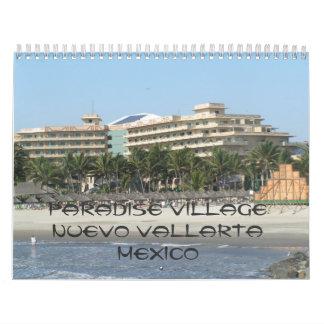 141, pueblo Nuevo Vallarta México del paraíso Calendario De Pared