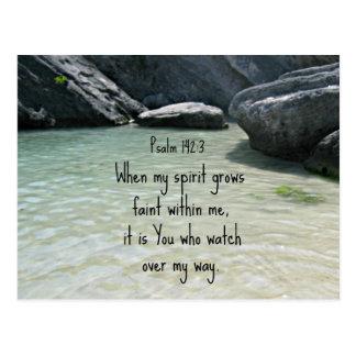 142:3 del salmo en que mi alcohol crece débil…. postal