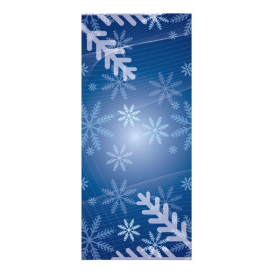 14350 snowflakes snowy blue background rack card