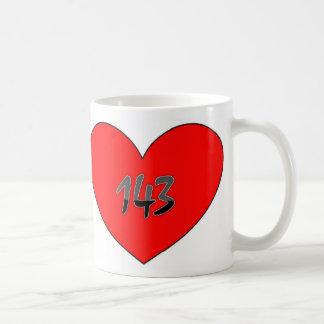 143 Heart I Love You Coffee Mug