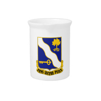 143rd Infantry Regiment - Arms Secure Peace Pitcher