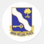143rd Infantry Regiment Round Sticker