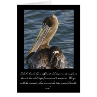 """144_4497 cropped 6 x 7, """"At the beach, life is ... Card"""